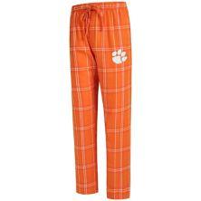 Men's Concepts Sport Orange Clemson Tigers Big & Tall Hillstone Flannel Pants Unbranded