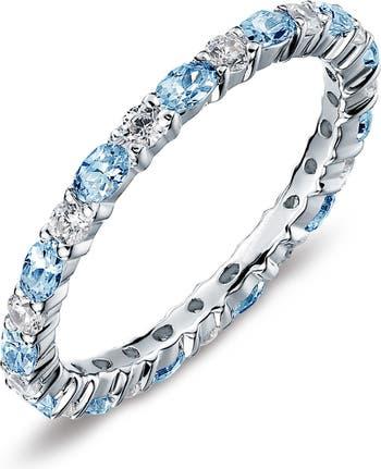Стерлинговое серебро декабрьское каменное кольцо с камнем, которое можно наращивать, с имитацией бриллианта LaFonn