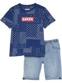Комплект из двух частей футболки и шорт с рисунком (для детей младшего и школьного возраста) Levi's® Kids