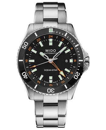 Мужские швейцарские автоматические часы Ocean Star GMT с браслетом из нержавеющей стали 44 мм MIDO