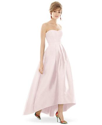 Платье макси без бретелек Alfred Sung