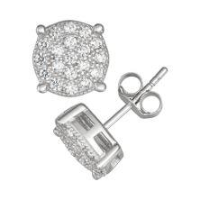 Designs by Gioelli Мужские круглые серьги-гвоздики из стерлингового серебра с кубическим цирконием Designs by Gioelli