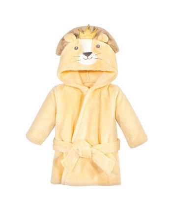 Плюшевый халат с лицом животных для девочек и мальчиков Hudson Baby