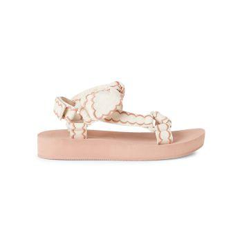 Maisie Embroidered Canvas Sport Sandals Loeffler Randall