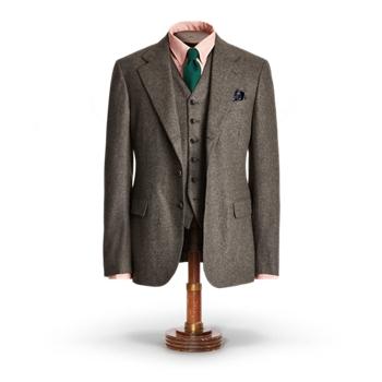 Striped Flannel Suit Jacket Ralph Lauren