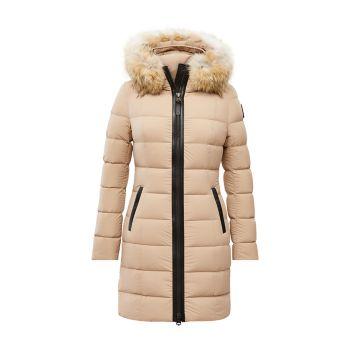 Пуховое пальто Calla с отделкой койотом Mackage