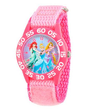 Принцесса Диснея Ариэль, Золушка и Рапунцель Девушки в розовых пластиковых часах Teacther Time Ewatchfactory