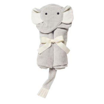 Обертывание для ванны Baby's Elephant с капюшоном Elegant Baby