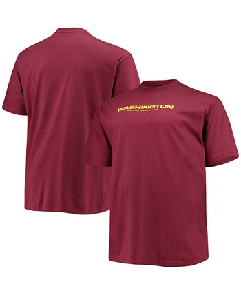 Men's Big and Tall Burgundy Washington Football Team Logo T-shirt Profile