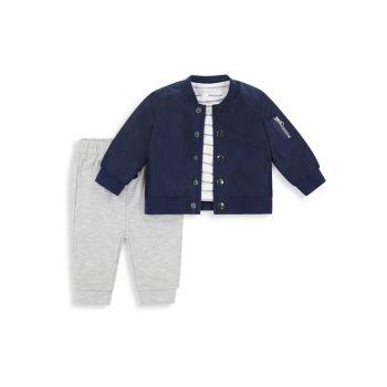 Куртка из 3-х частей для мальчика, футболка и amp; Комплект бегунов Miniclasix