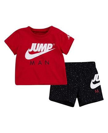 Комплект из футболки с короткими рукавами и шорт для маленьких мальчиков Jordan