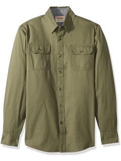 Классическая тканая рубашка с длинными рукавами Wrangler