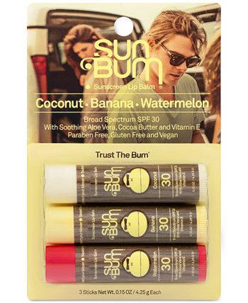 Оригинальный солнцезащитный бальзам для губ SPF 30, 3 шт. Sun Bum
