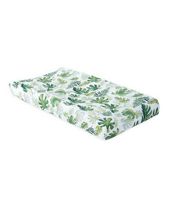 Чехол для пеленания из хлопкового муслина с тропическими листьями Little Unicorn