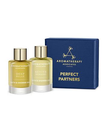 Perfect Partners Масло для душа и ванны для путешествий и подарочный набор по 2, 9 мл каждый Aromatherapy Associates