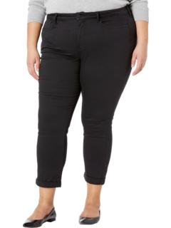 Черные зауженные джинсы до щиколотки с отворотом на манжетах больших размеров Sheri NYDJ Plus Size