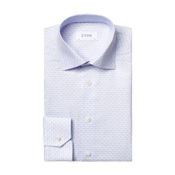 Классическая рубашка современного кроя с принтом раков Eton