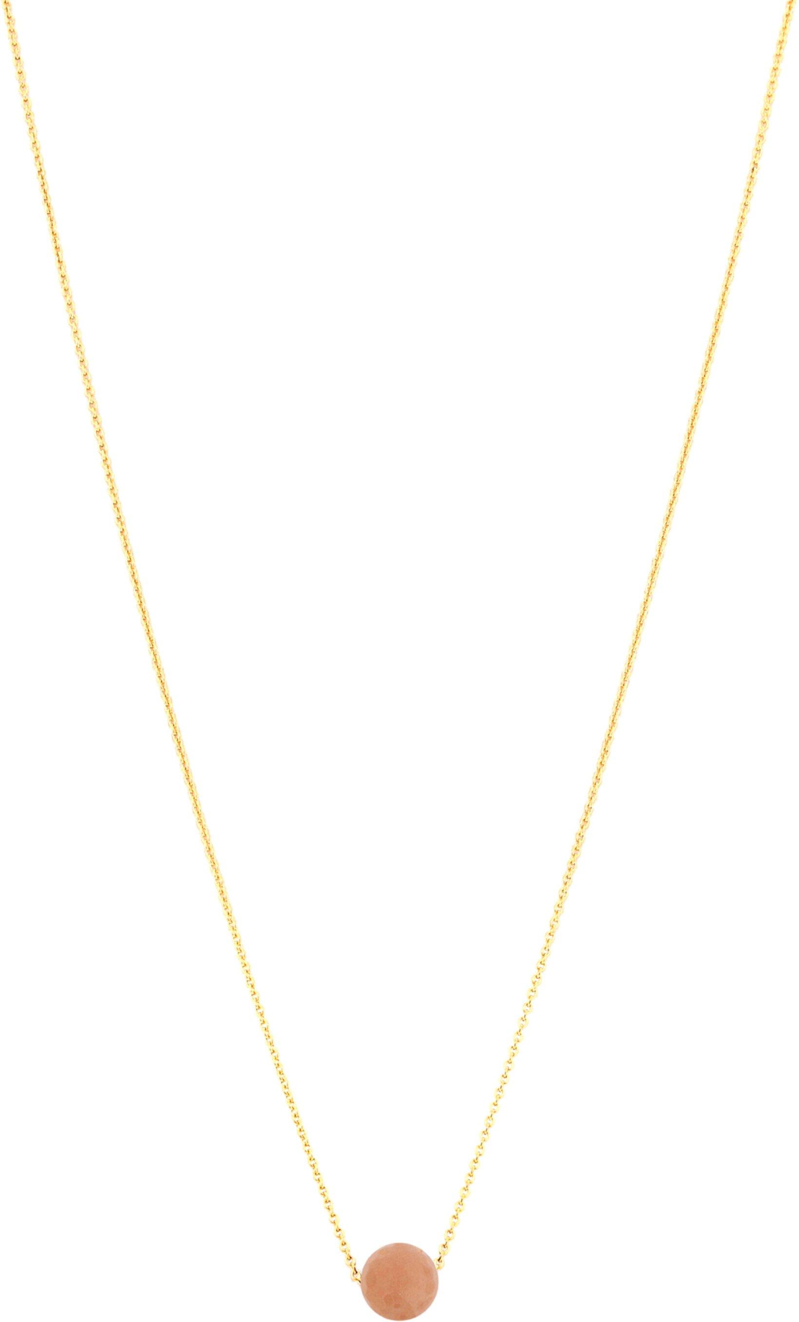 Ожерелье с драгоценным камнем One Love, 18 дюймов, персик, лунный камень Dee Berkley