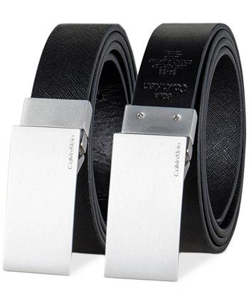 Men's 38mm Plaque Reversible Textured Belt Calvin Klein