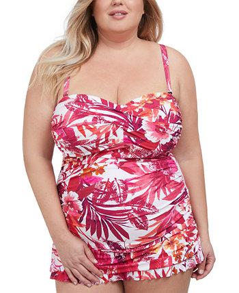 Plus Size Bali Escape Printed Swimdress Profile by Gottex