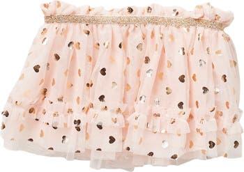 Розовая юбка-пачка с металлическим принтом из фольги с сердечками Baby Starters