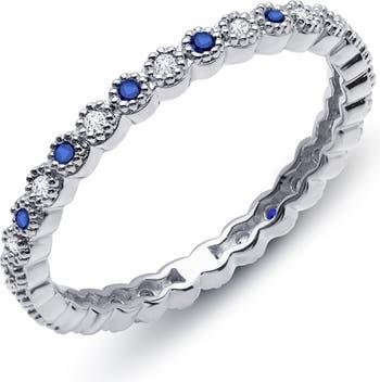 Кольцо из стерлингового серебра со связкой из платины с имитацией бриллианта и сапфира LaFonn