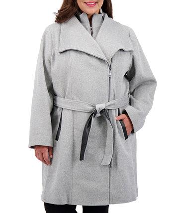 Пальто большого размера с запахом и поясом, созданное для Macy's Vince Camuto