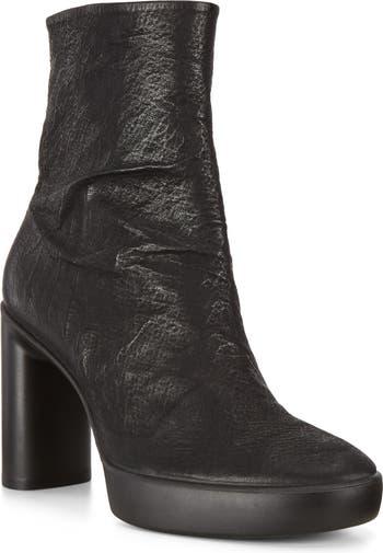 Кожаные ботинки Sculpted Motion на блочном каблуке ECCO