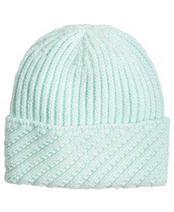 Рубчатая шапка с косыми манжетами Echo 23