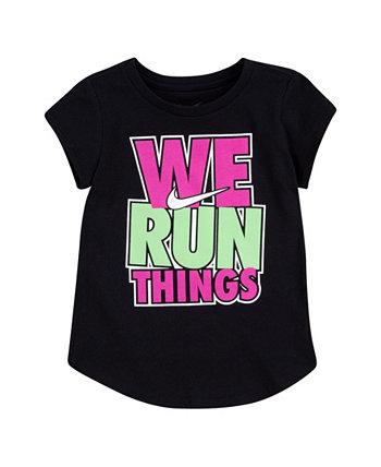 Toddler Girls We Run Things Tee Nike
