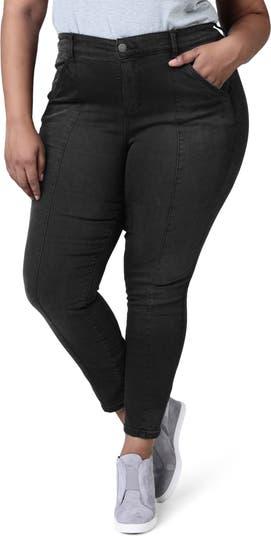 Узкие джинсы до щиколотки с завышенной талией и защипами SLINK JEANS
