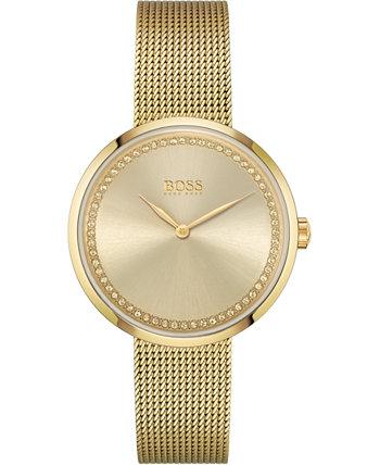 Женские часы-браслет из нержавеющей стали с золотыми тонами 36мм HUGO BOSS