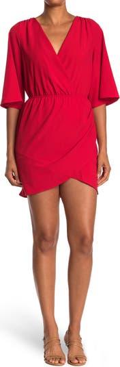 Wrap Style Mini Dress Vanity Room