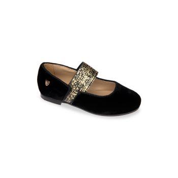 Маленькая девочка & amp; Бархатные туфли Andrea Mary Jane для девочек Venettini