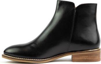 Eileen Leather Zip Boot Crevo
