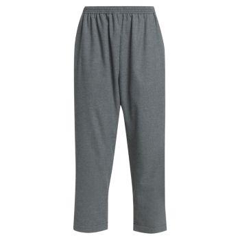 Укороченные брюки без застежки MM6 Maison Margiela