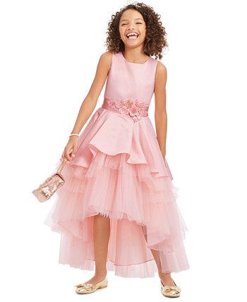 Платье для девочек из атласа и тюля Rare Editions