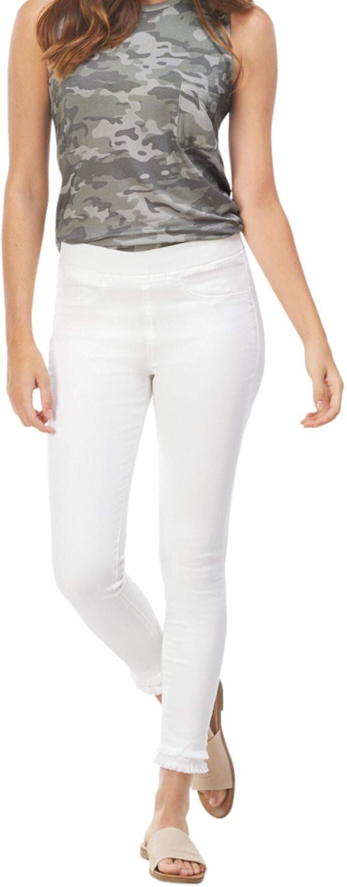 Mud Pie Women White Harlyn Fringe Jeans (Small) Mud Pie