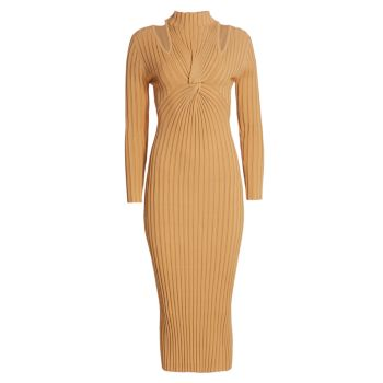Миди-платье Collins в рубчик с кружевом Acler