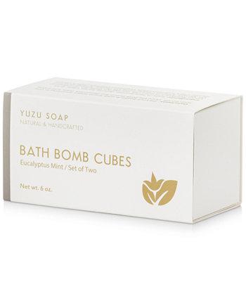 Кубики бомбы для ванны - Эвкалиптовая мята, 6 унций. Yuzu Soap