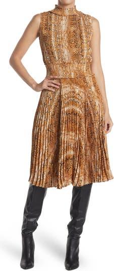 Плиссированное платье без рукавов с принтом NANETTE LEPORE Nanette nanette lepore
