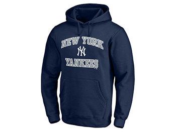 Мужская толстовка с капюшоном New York Yankees Heart & Soul с капюшоном Majestic