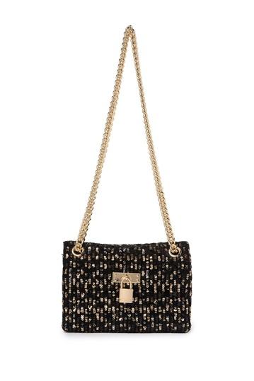 Миниатюрная сумка с замком с пайетками Brixton Kurt Geiger London