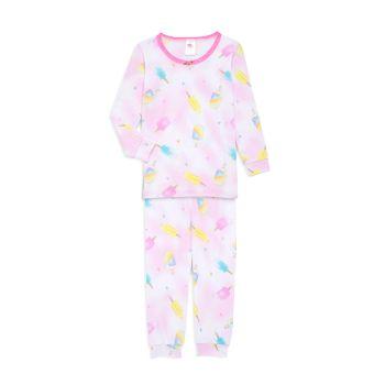 Маленькая девочка & amp; Пижамный комплект из 2 предметов с принтом эскимо для девочек Esme
