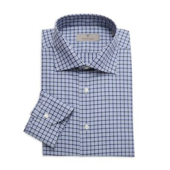 Modern-Fit Plaid Dress Shirt Canali