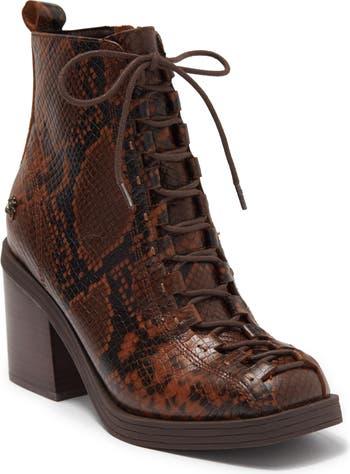 Ботинки Westlight Espresso на массивном каблуке со шнуровкой Kelsi Dagger Brooklyn