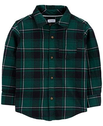 Рубашка из хлопка в клетку для маленьких мальчиков Carter's