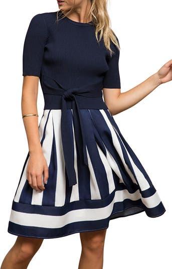 Расклешенная юбка в полоску Kara Lucy Paris