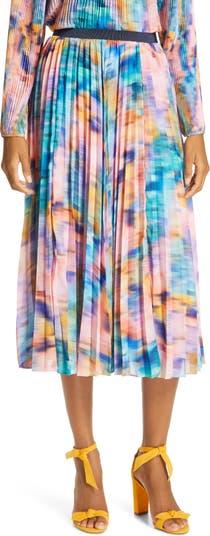 Плиссированная юбка с радужным принтом Primrose Tanya Taylor