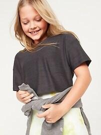 Укороченная футболка Ultra-Soft Breathe ON для девочек Old Navy